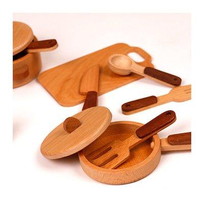 Set de gatit din lemn 15 piese