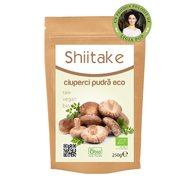 Shiitake pulbere raw bio 250g