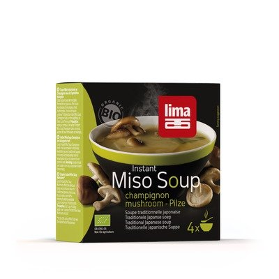 Supa miso instant cu ciuperci bio 4x9g Lima