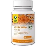 Turmeric (curcuma) forte bio 500mg, 90 capsule vegane RAAB