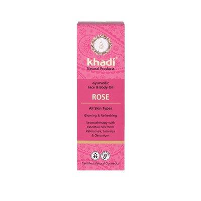 Ulei cu trandafiri - toate tipurile de piele (ten si corp) Khadi, 100ml