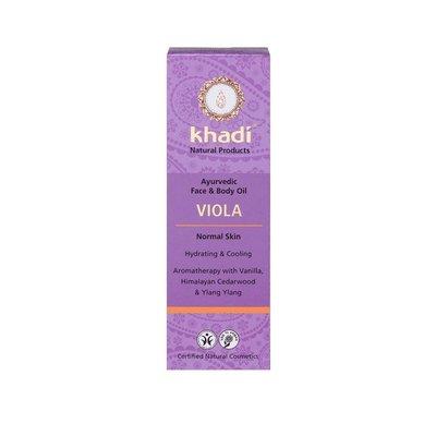 Ulei cu violete - toate tipurile de piele (ten si corp) Khadi, 100ml
