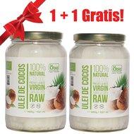 Ulei de cocos virgin raw bio 1400g / 1521ml 1 + 1 GRATIS