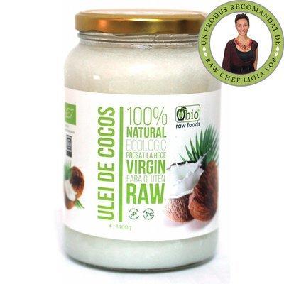 Ulei de cocos virgin raw bio 1400g / 1521ml