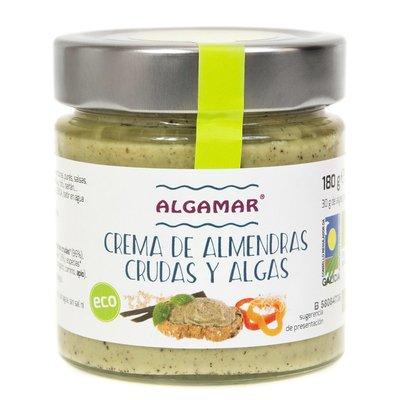 Unt de migdale cu alge raw bio 180g Algamar PROMO