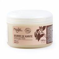 Unt de shea organic cu aroma de vanilie, 150g - NAJEL