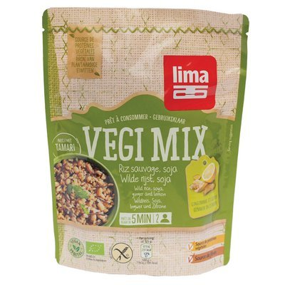 Vegi mix ghimbir, orez salbatic si soia bio 250g Lima