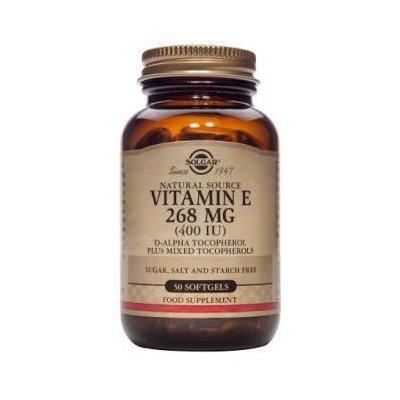 Vitamina E din surse naturale 268 mg (400 UI) 50cps - SOLGAR