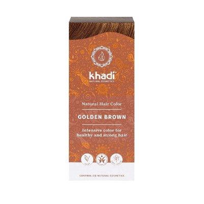 Vopsea de par naturala Saten Auriu - Khadi, 100gr