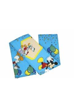 Aparatoare laterala patut, dreapta, Mickey petrece, albastra 180 x 30 cm