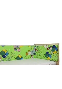 Aparatoare laterala patut, dreapta, Mickey petrece, verde 180 x 30 cm