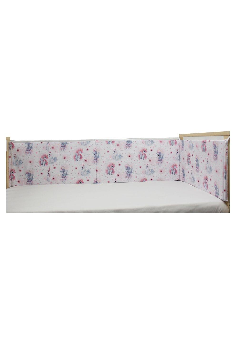 Aparatoare laterala patut, Unicornul roz, 180 x 30 cm imagine