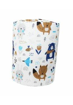 Aparatoare laterala patut, Ursuletul cu esarfa, albastru, 180 x 30 cm