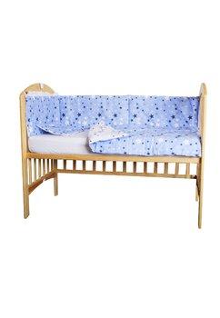 Aparatoare patut, stelutele albastre, 180 x 30 cm