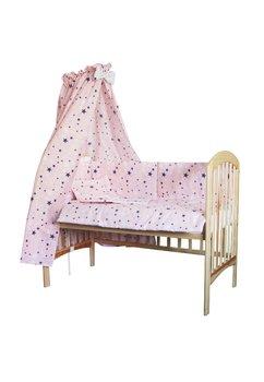 Baldachin patut, stelutele, roz,  200 x 150 cm