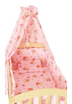 Baldachin patut, ursulet cu albinute roz , 200 x 150 cm