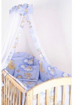 Baldachin patut,ursuletul somnoros, albastru, 300x160 cm