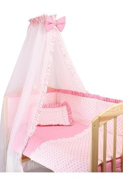 Baldachin roz cu stelute roz
