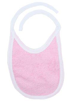 Baveta 2 fete, roz deschis, 0-6 luni