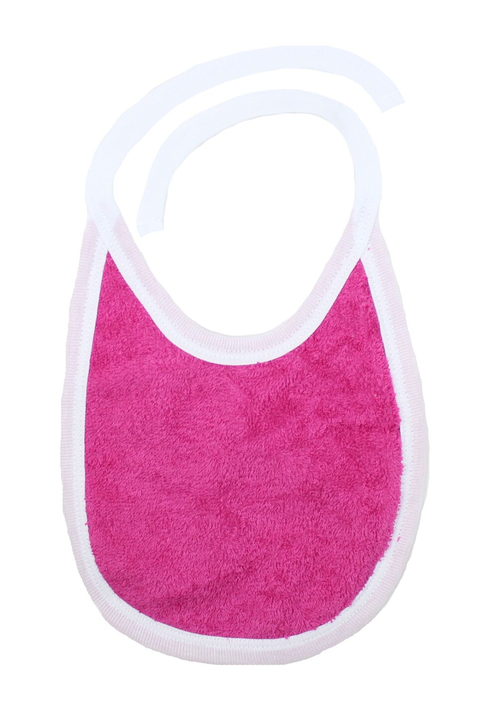 Baveta 2 fete, roz inchis, 0-6 luni imagine