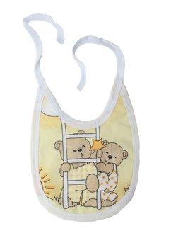 Baveta, 2 fete,ursuletul somnoros galben, 0-6 luni