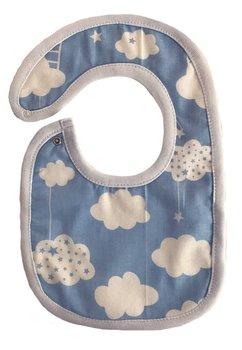 Baveta, albastra cu norisori, 0-6 luni