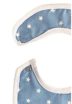 Baveta, albastra cu stelute albe, 0-6 luni
