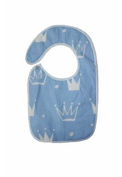 Baveta bebe, coronite albastre, 0-6 luni