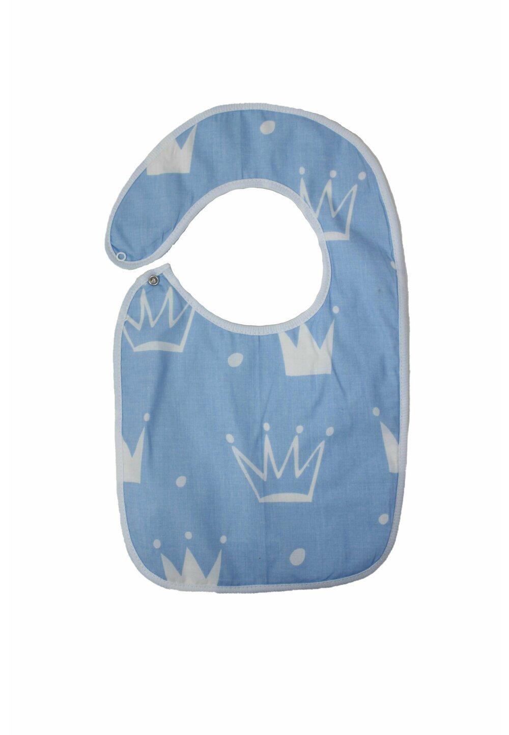 Baveta bebe, coronite albastre, 0-6 luni imagine