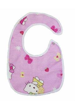 Baveta bebe, Hello Kitty, roz deschis, 6-12 luni