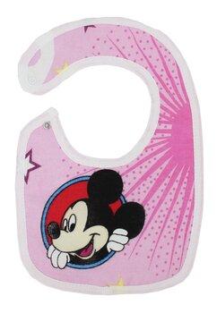 Baveta, Mickey Mouse, roz,  0-6 luni