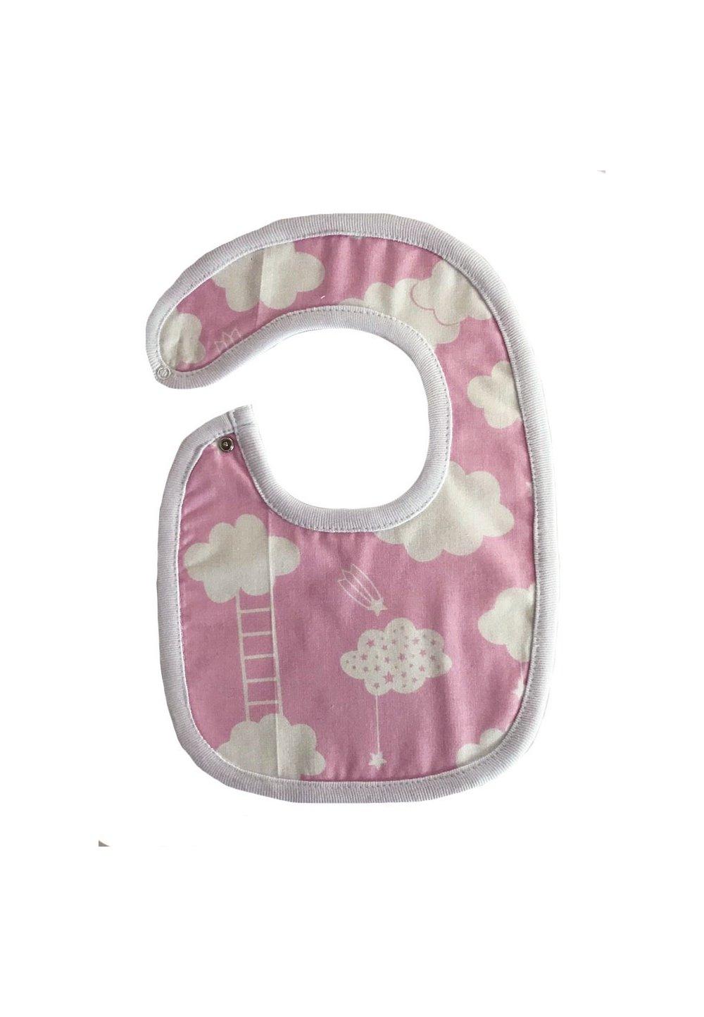 Baveta, roz cu norisori, 0-6 luni imagine