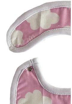 Baveta, roz cu norisori, 0-6 luni