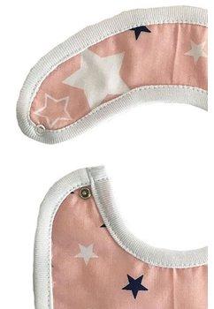 Baveta, roz cu stelute bluemarin, 0-6 luni