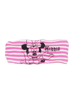 Bentita Minnie Mouse, alba cu dungi roz