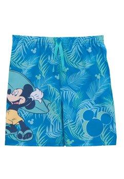 Bermude baie, Mickey Mouse, albastru cu verde