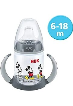 Biberon Nuk, First choice, cu cioc, Mickey Mouse, 6-18 luni, 150 ml
