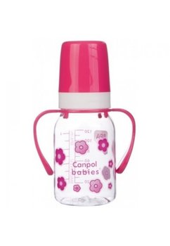 Biberon roz Canpol, cu maner