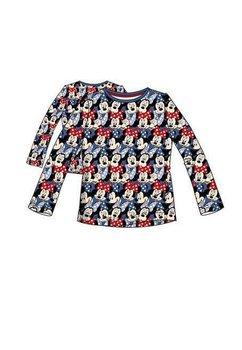 Bluza albastra, figurine Minnie Mouse