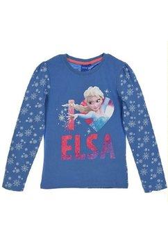 Bluza, albastra, I love Elsa