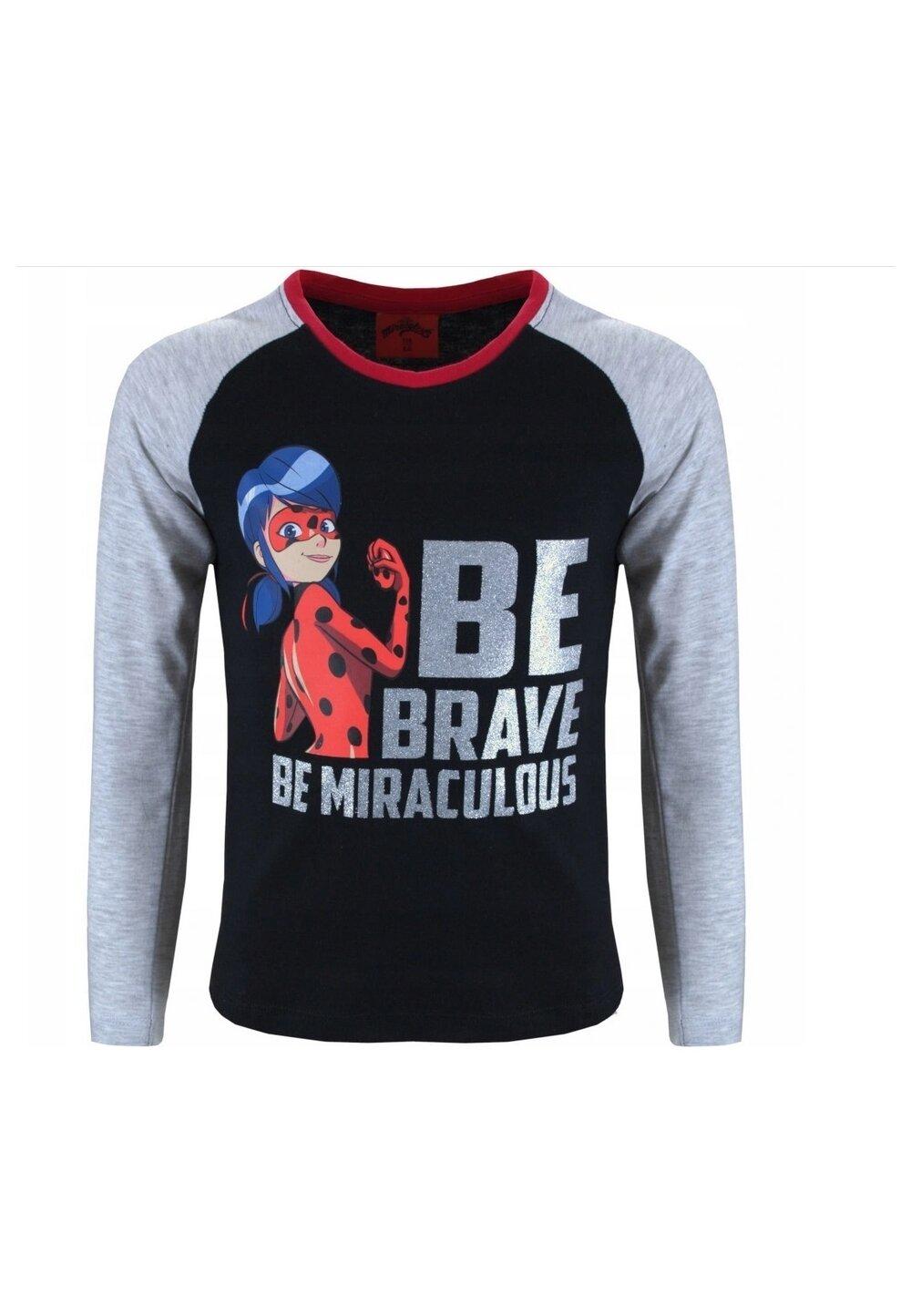 Bluza, Be brave, be miraculous, neagra imagine