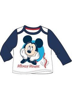 Bluza bebe Mickey alb cu bluemarin