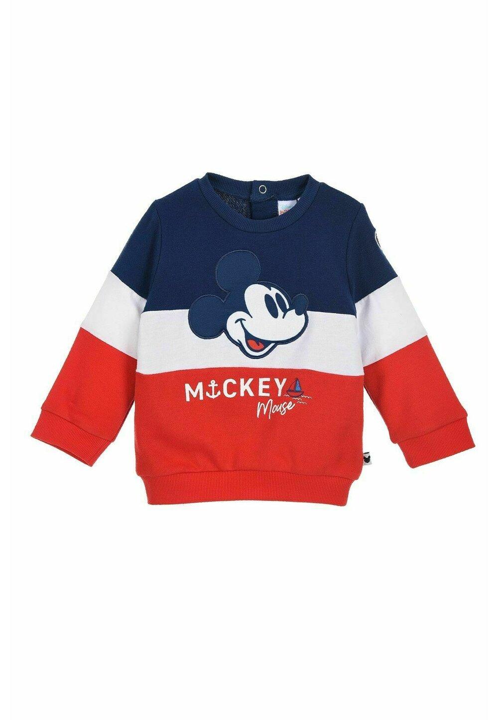 Bluza bebe, Mickey Mouse, rosu cu bluemarin imagine