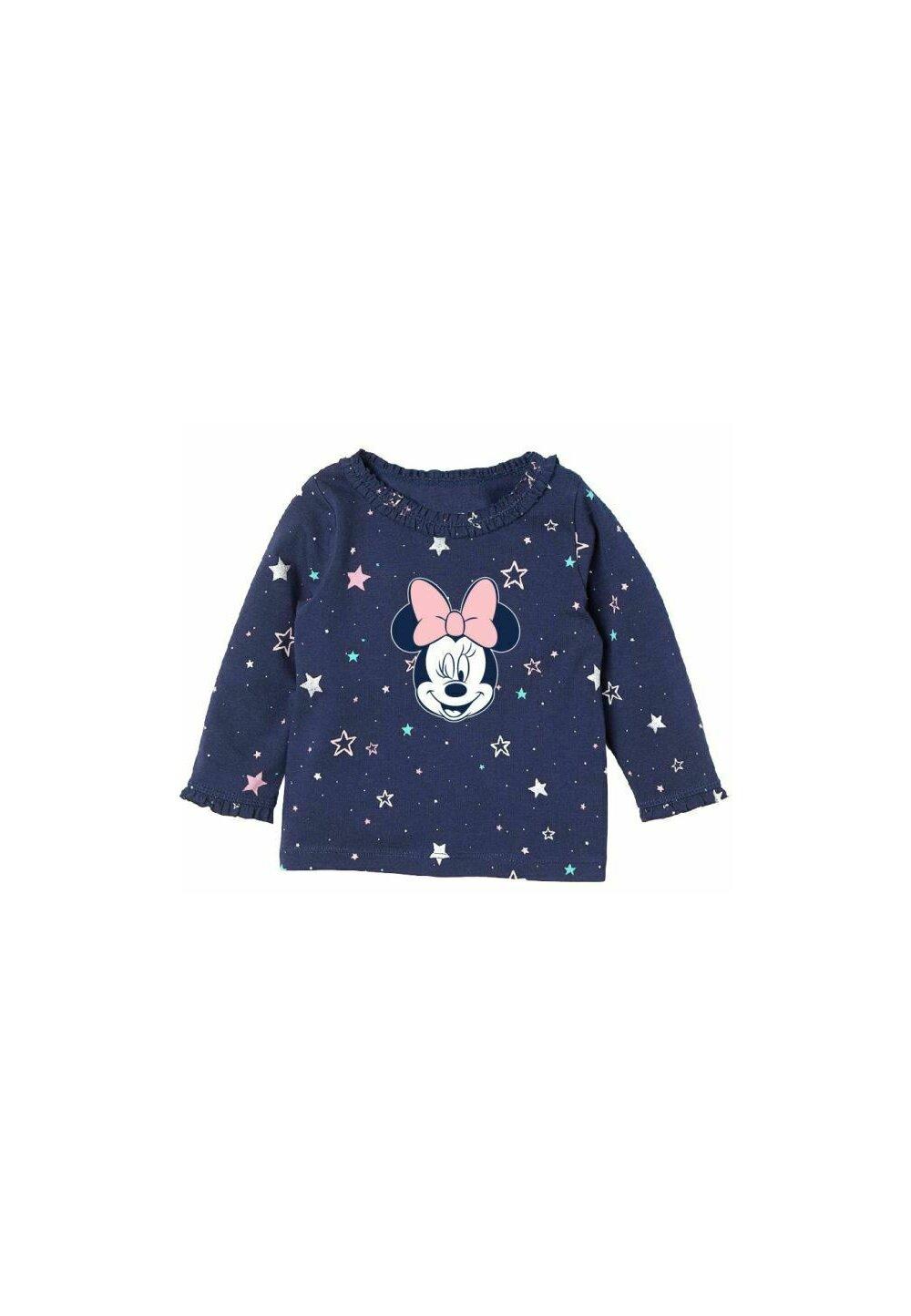 Bluza bebe, Minnie Mouse, bluemarin cu stelute colorate imagine
