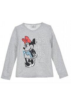 Bluza bumbac, Fashionista, Minnie Mouse, gri
