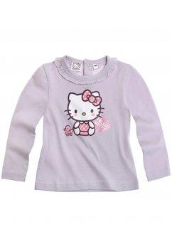 Bluza bebe Hello Kitty mov cu inimioara