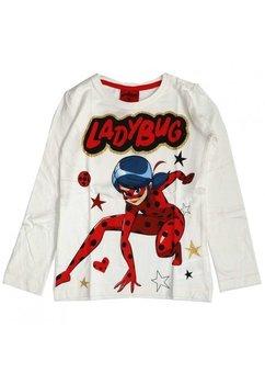 Bluza fete, Ladybug, alba