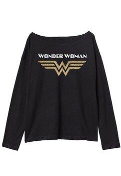 Bluza fete, Wonder Woman, neagra