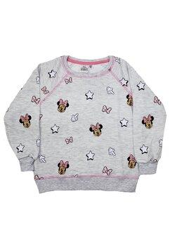 Bluza gri, Minnie Mouse cu fundita roz