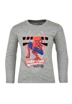 Bluza maneca lunga, 90%bumbac, cu imprimeu, Spider Man, gri